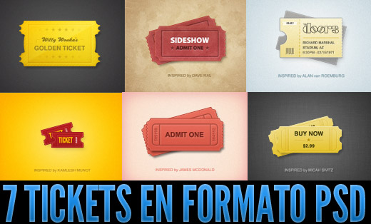 tickets en PSD
