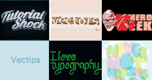 efectos de texto para Illustrator