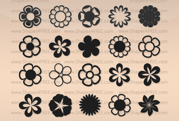 shapes de flores para Photoshop