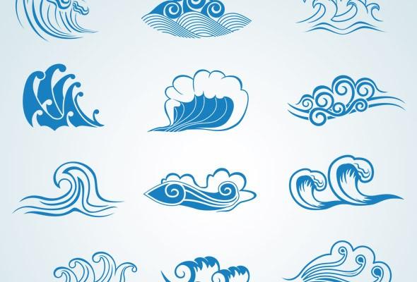 olas en vectores