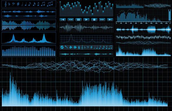 graficos vectoriales sobre audio y sonido