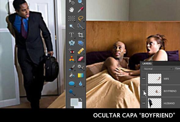 Ocultar capa con Photoshop
