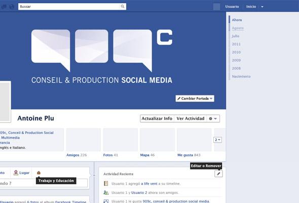 timeline de facebook en PSD