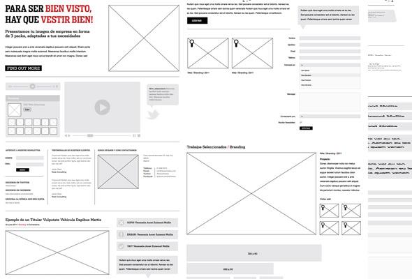 elementos wireframe para Illustrator