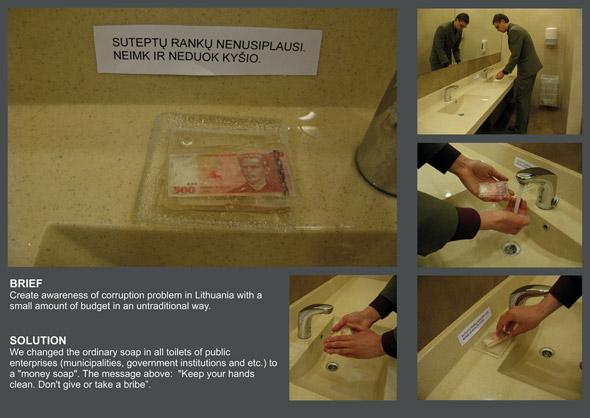 Anti Corruption: Money Soap