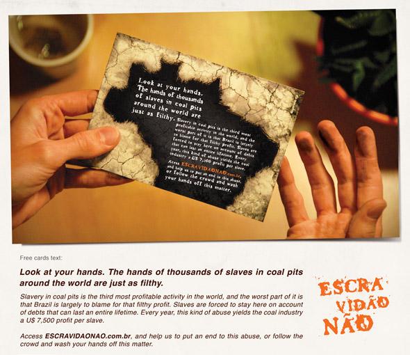 Escravidão Não: Dirty Cards