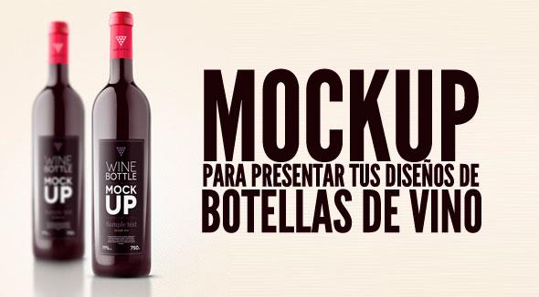 Mockup para botellas de vino