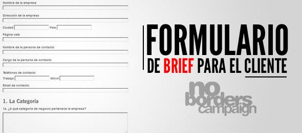 formulario de brief para el cliente