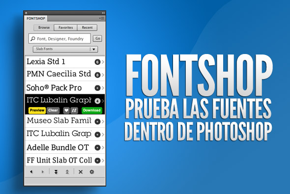 FontShop, plugin para Photoshop