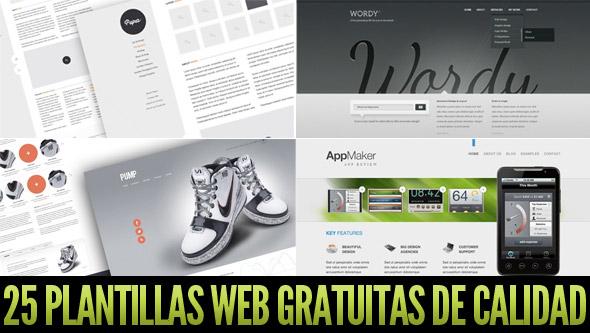Plantillas web gratis en PSD