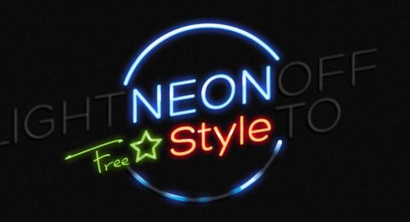 estilo neon para Photoshop