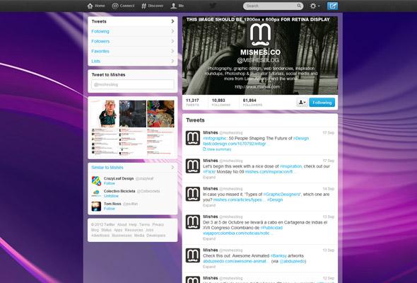 Plantilla del perfil de Twitter
