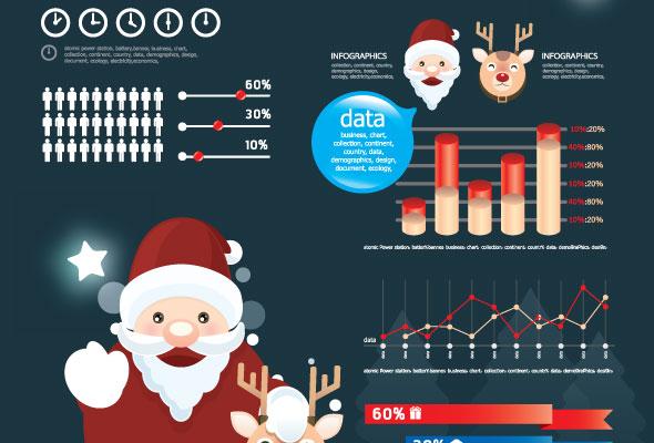 elementos infografias navidad