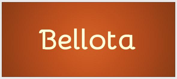 bellota-font