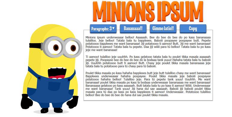 minions-ipsum