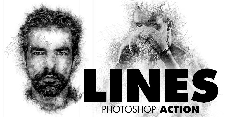 lines photoshop action